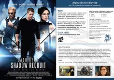 We are giving 9 lucky winners a chance to win pair of invites to the advance screening of 'Jack Ryan: Shadow Recruit' at Grand Megaplex, Ibn Batuta Mall on 14th January. Simply share the post 'Jack Ryan: Shadow Recruit | Screening' on our facebook page and answer the following question in comments of the same post, and you could win 2 invites, courtesy of Gulf Film.