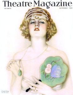 Theatre Magazine Cover. Ziegfield Follies girl by Vargas. 1925. #ZiegfieldFollies