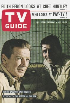 "TV Guide: June 19, 1965 - Richard Basehart and David Hedison of ""Voyage to The Bottom Of The Sea"""