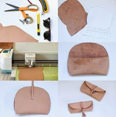 always rooney: Leather Sunglasses Case DIY Leather Gifts, Leather Bags Handmade, Sewing Leather, Leather Craft, Diy Leather Projects, Diy Projects, Pochette Diy, Leather Bag Tutorial, Leather Glasses Case