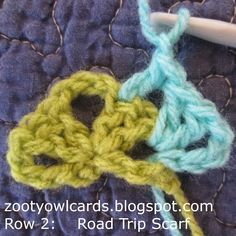 A few crocheters seem to be having a bit of difficulty with the triangle concept for the ROAD TRIP SCARF – so this version is written wi. Freeform Crochet, Crochet Shawl, Crochet Stitches, Crochet Triangle, Triangle Scarf, Crochet Poncho Patterns, Crochet Scarves, Crochet Crafts, Crochet Projects
