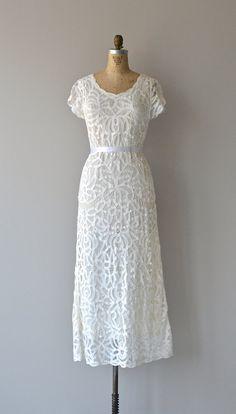 Battenburg wedding dress vintage cutout lace dress by DearGolden