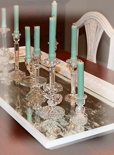 Love this idea - Me too! Christmas it up for my dining room buffet holiday dec.