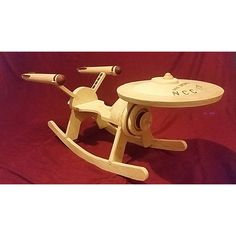 Get ready to have a rocking good time with the Star Trek Enterprise Rocker. Rocking horses are fun. Rocking starships take that fun and elevate it to Warp Factor 9. Made for little starship captains from infant to 5-years-old and based on the Enterprise