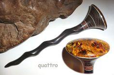 Quattro Hair Sticks 'Naturals' Shillelagh - Pietersite by quattro on Etsy