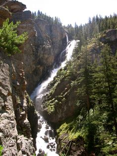 Woodbine Falls This waterfall is nestled in the Custer National Forest, accessible by a ¾ mile hike.