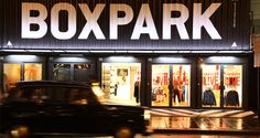 BOXPARK Shoreditch is a retail revolution – the world's first pop-up mall. Based in the heart of East London, for the next five years. BOXPARK strips and refits shipping containers to create unique, low cost, low risk, 'box shops'. Put them together with a unique mix of international fashion and lifestyle brands, galleries and cafés and you've got the world's first 'pop-up' mall.