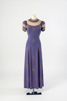 Vintage Elsa Schiaparelli powder blue evening dress  Superb!