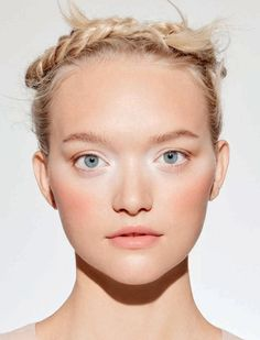 Gemma Ward models Chanel makeup looks in the fashion editorial