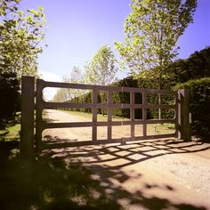 Contemporary Metal gates in rural style, by #peterfudge