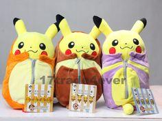 Pokemon Center Pikachu in Sleeping Bag Stuffed Animal Plush Doll 3pcs #Unbranded