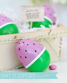 DIY Watermelon Easter Eggs | Damask Love Blog