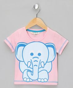 Take a look at this Pink Elephant Tee by WW Group on #zulily today!