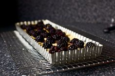 won the dessert prize at a friend's Iron Chef competition with this blackberry coconut macaroon tart