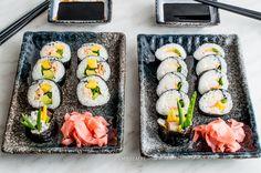 Salmon and surimi sushi Surimi Sushi, Fish And Seafood, Salmon, Ethnic Recipes, Atlantic Salmon, Trout