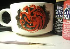 Taza de la colección de Juego de Tronos. Casa Targaryen.