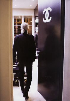 I would definitely follow Lagerfeld into those doors. The door to heaven!!
