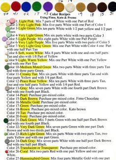ThanksAdventures in Creativity: Polymer clay color recipes awesome pin