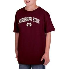 Ncaa Mississippi State Bulldogs Boys Classic Cotton T-Shirt, Size: Large, Red