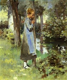 Theodore Robinson  (By The River)