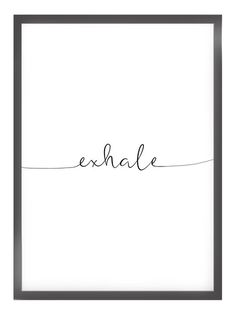 """""""EXHALE"""" poster from Kruth Design"""