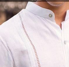Guayabera Weeding Style Collar MAO. Hidden Button