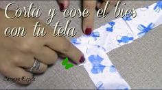 Aprende a cortar bies con tu tela y coserlo:diy VIDEOTUTORIAL.... Advanced Style, Sewing Hacks, Sewing Tips, Learn To Sew, Couture, Projects To Try, Quilts, Learning, Diy