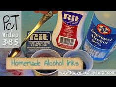 Homemade Alcohol Inks from Cindy Lietz, Polymer Clay Tutor http://www.beadsandbeading.com/blog/making-homemade-alcohol-inks-using-rit-dye/17068/
