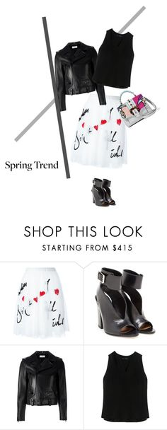 """Untitled #1796"" by sanremo ❤ liked on Polyvore featuring P.A.R.O.S.H., Laurence Dacade, Yves Saint Laurent, Proenza Schouler and Paula Cademartori"