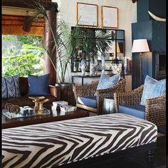 See all the design news by Yvonne O'Brien! Style At Home, Home Interior, Interior Decorating, Interior Ideas, African Interior Design, Estilo Colonial, British Colonial Decor, African Home Decor, Lodge Decor
