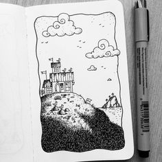 Dave Garbot — The Beach House #illustration #drawing #penandink...
