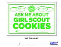 Cookie Car Magnets - NEW and IN STOCK $8.99 Girl Scout Cookie Sales, Brownie Girl Scouts, Girl Scout Cookies, Boy Scouts, Gs Cookies, Girl Scout Juniors, Girl Scout Crafts, Business Ethics, Car Magnets
