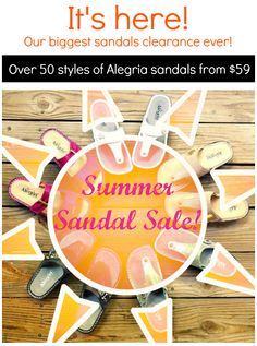 Over 50 sandal styles now clearance-priced! | Alegria Shoe Shop #AlegriaShoes