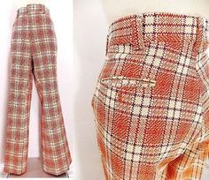Mens 70s Plaid Pants/ 70s Costume/ Vintage Pants/ 70s Pants in ...