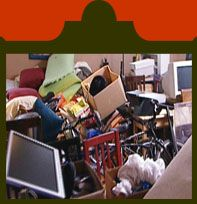 A picturesque view of a #cluttered office. Here at Address Our Mess, we can help in any clutter situation. www.clutterhoardingcleanup.com