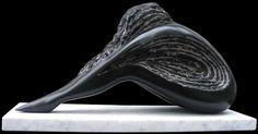 Black belgian marble Sculptures of females by artist SAVA C Marian titled: 'FINALE (Marble Dancer Resting Sculpture)' £6,334
