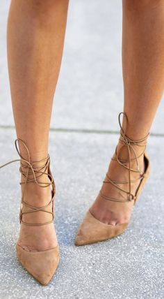 You won't believe where these are from! | Style and fashion blogger Mash Elle shares her favorite lace up pumps of the season! They pair perfectly with a casual or formal outfit and are super comfortable!