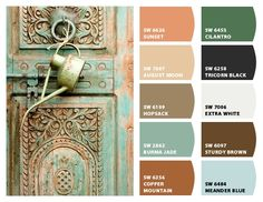 I love love love these paint colors for a bathroom! Paint colors from Chip It! by Sherwin-Williams Paint Color Palettes, Paint Color Schemes, Colour Pallette, Color Combos, Paint Colors For Home, House Colors, Colour Board, Do It Yourself Home, Color Swatches