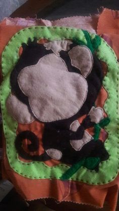 #quietbook #monkey #faces uncompleted #felt #handmade