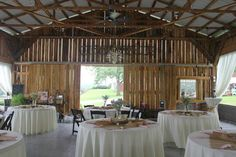 wedding day at Events at East 96 country barn wedding