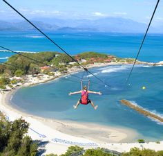 Fly down Dragon's Breath Flight Line, the world's longest zip line over water. #labadee #caribbean