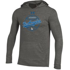 Los Angeles Dodgers Under Armour Tri-Blend Pullover Hoodie - Heathered Gray