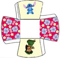 Cajitas imprimibles de Lilo y Stich. - Ideas y material gratis para fiestas y celebraciones Oh My Fiesta!