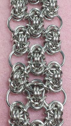 Byzantine Lace Bracelet with Chrome Toggle Clasp by JGrubeJewelry, $22.50