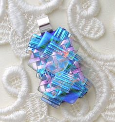 Dichroic Pendant  Dichroic Glass Jewelry by GalaxyGlassStudio, $24.00