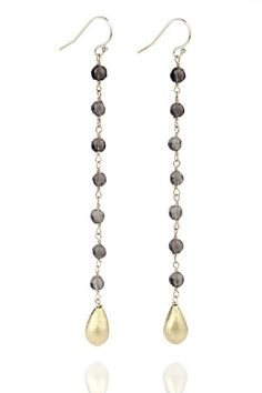 Pearl dangles with gold