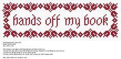 Free cross stitch bookmark pattern