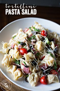 Tortellini Pasta Salad -Italian twist on the classic pasta salad.