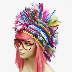 100 Unique Crochet Hats — Crochet Concupiscence this would be cute in orange and white!  UT game!!!!