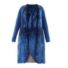 Fendi Fur panel cashmere coat found on Polyvore